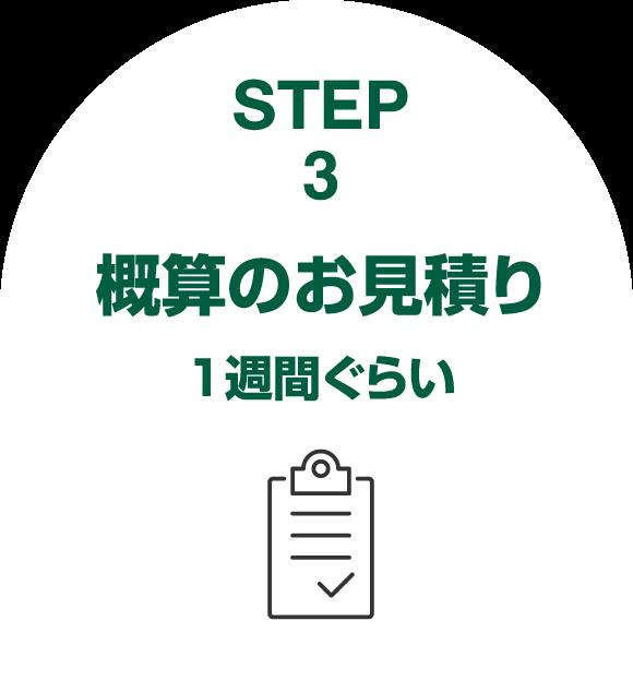 step3概算のお見積り